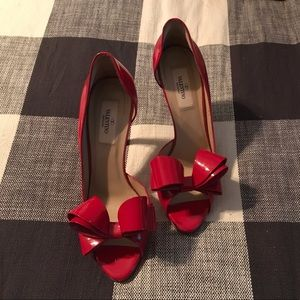 Valentino Red Bow Heels